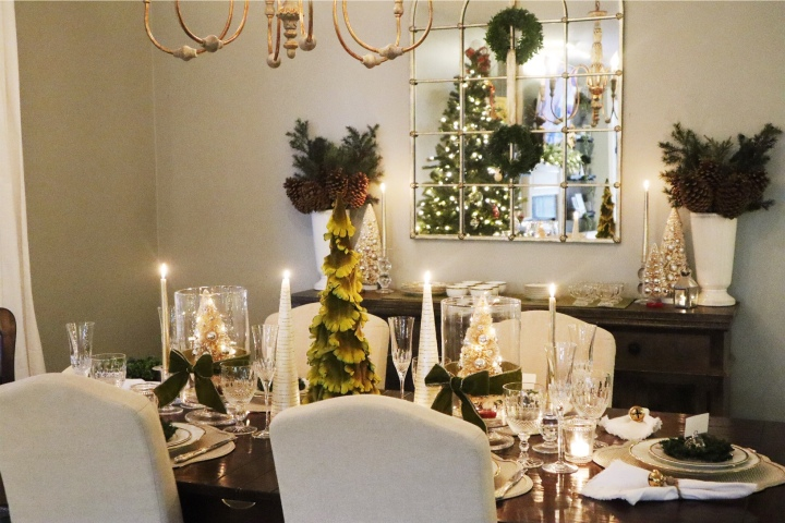 Festive Silver and Gold Holiday Tablescape – Done TwoWays!