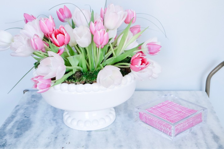 DIY Tulip Centerpiece Perfect for Easter!